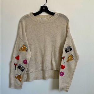 Wildfox patched sweater